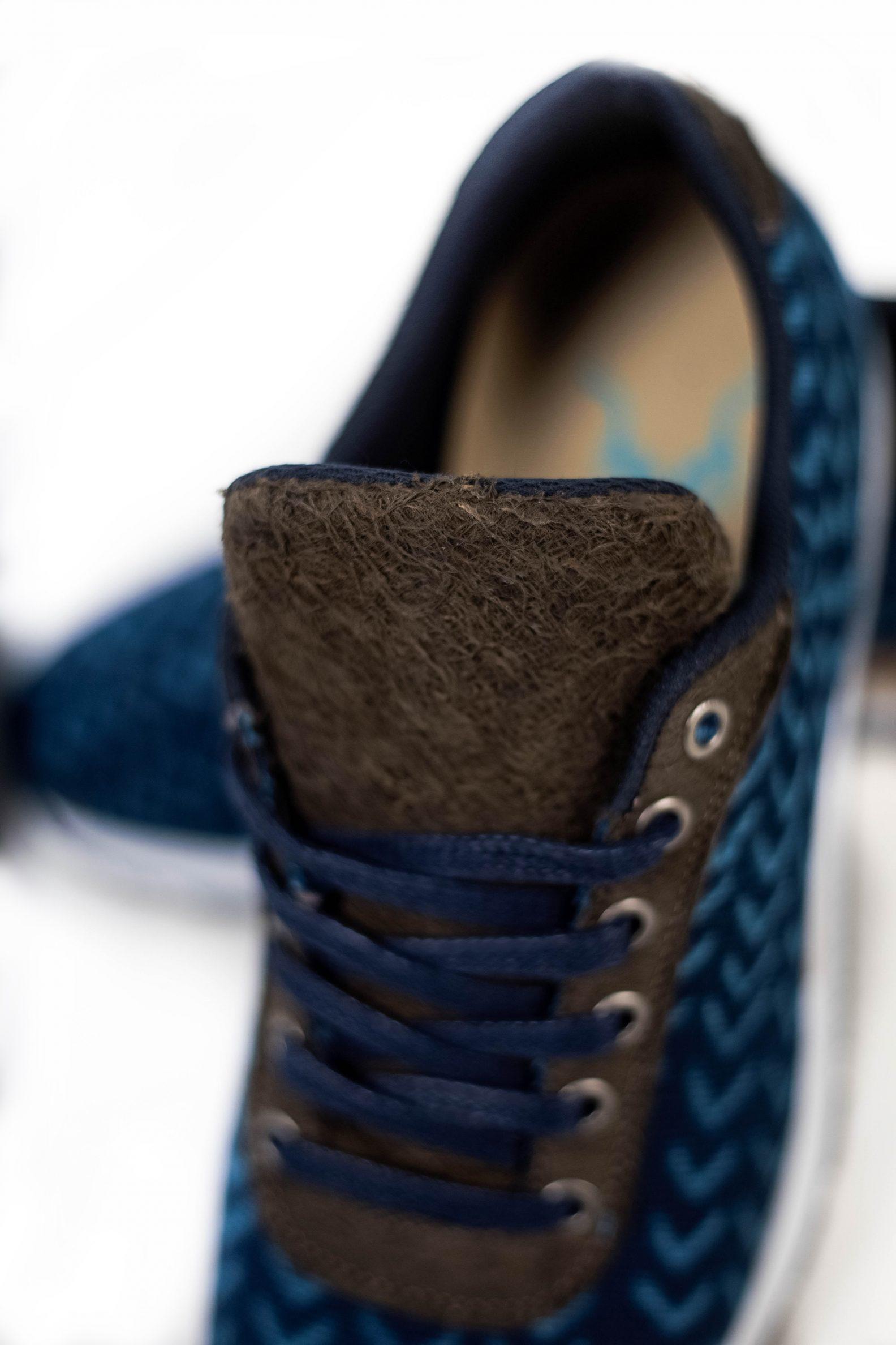 Baskets en coton bio indigo – Vue en détail | Label AÉ