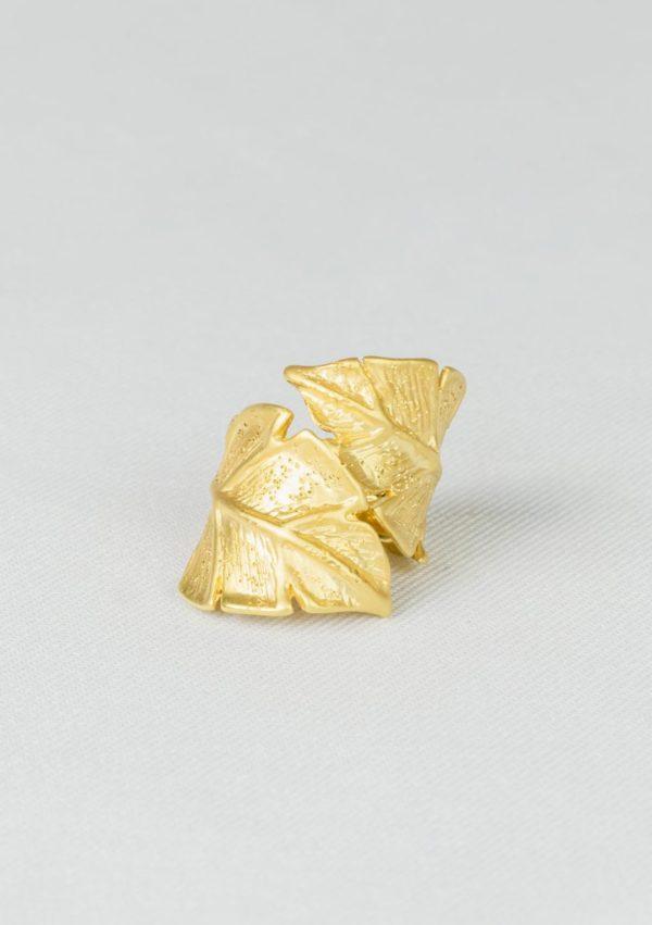 bague Eternelle I argent massif doré or 18 caratsI Elliade I vue de face I Label AÉ Paris