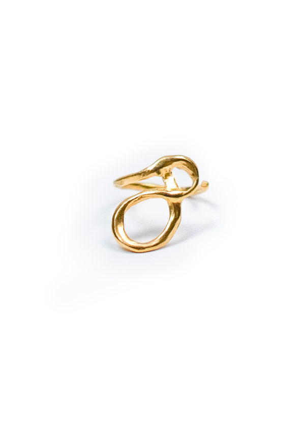 Bague Sao Serpentée – Doré à l'or fin 24 carats | Bresma | Label AÉ Paris - Image 1