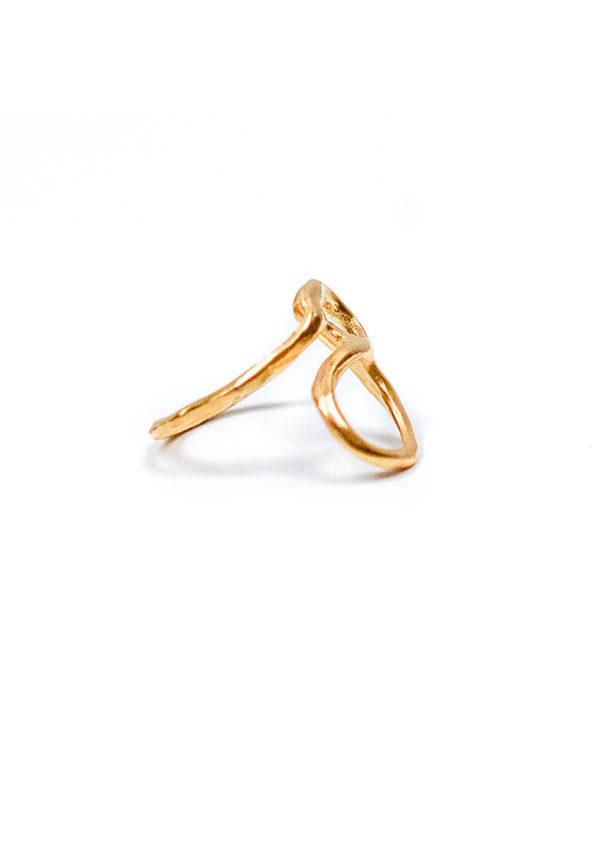 Bague Sao Serpentée – Doré à l'or fin 24 carats | Bresma | Label AÉ Paris - Image 2