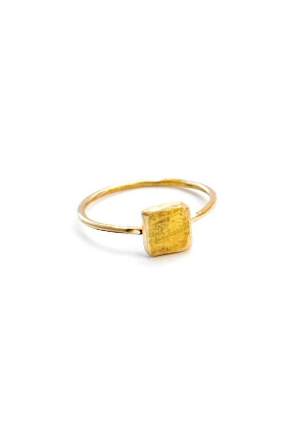 Bague Schiste – Doré à l'or fin 24 carats | Bresma | Label AÉ Paris - Image 2