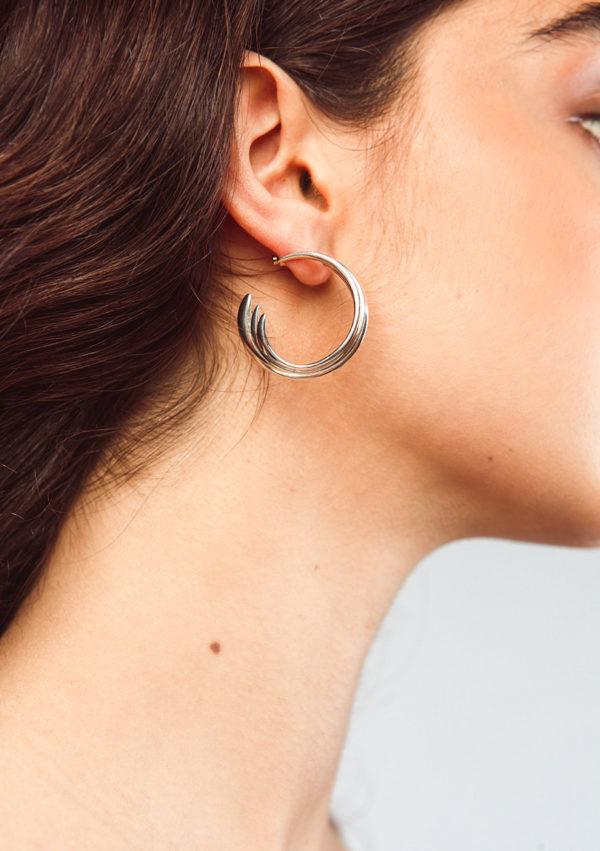Boucles d'oreilles en argent belharra – Imminent Fantasma   Label AÉ Paris