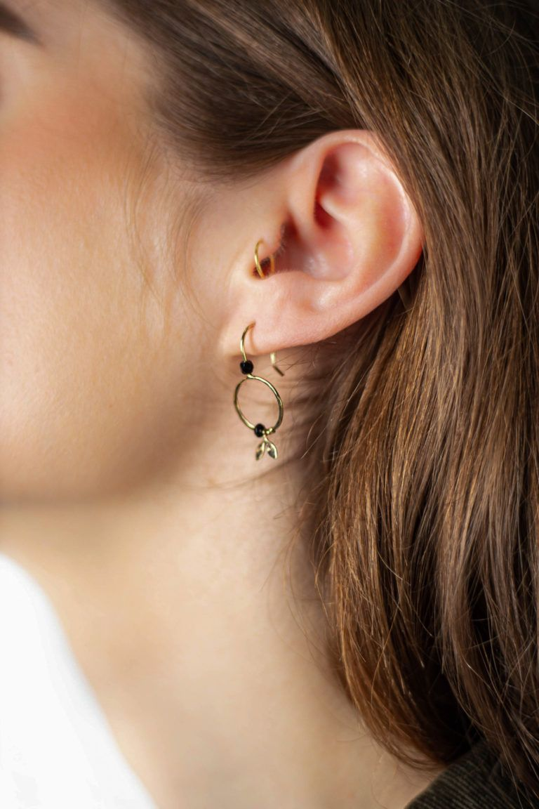 Boucles d'oreilles asymétriques et arrondies Garance