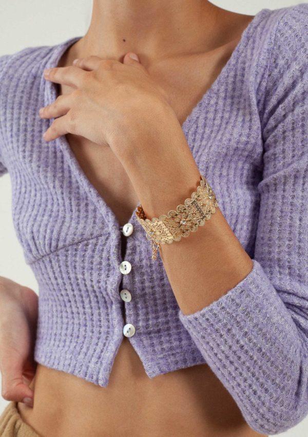 Bracelet fantaisie ethnique – Vue en détail – Affaires Étrangère | Label AÉ