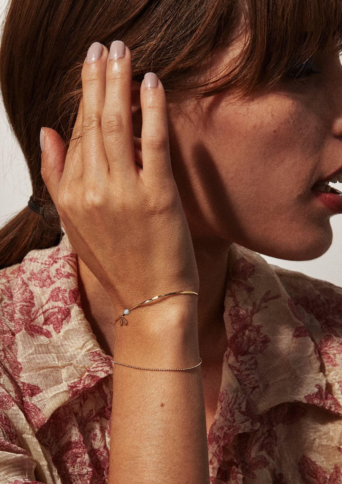 Bracelet fin double doré à l'or 24k