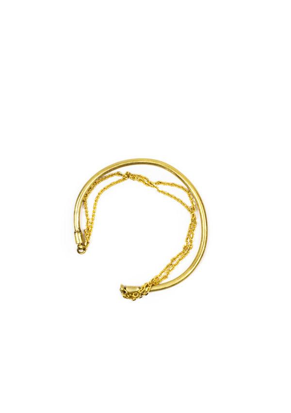 Bracelet Jonc double – Doré à l'or fin | Bresma | Label AÉ Paris