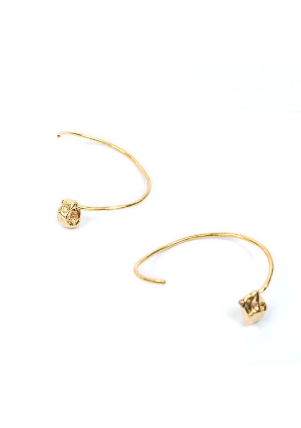 Bracelet Jonc Irrégulier – Doré à l'or fin 24 carats | Bresma | Label AÉ Paris - Image 1