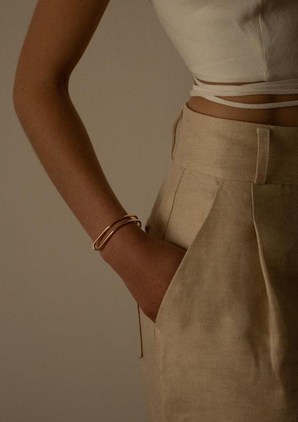 bracelet réversible Origine I vermeil I Mayrena I Vue porté 1 I Label AÉ Paris