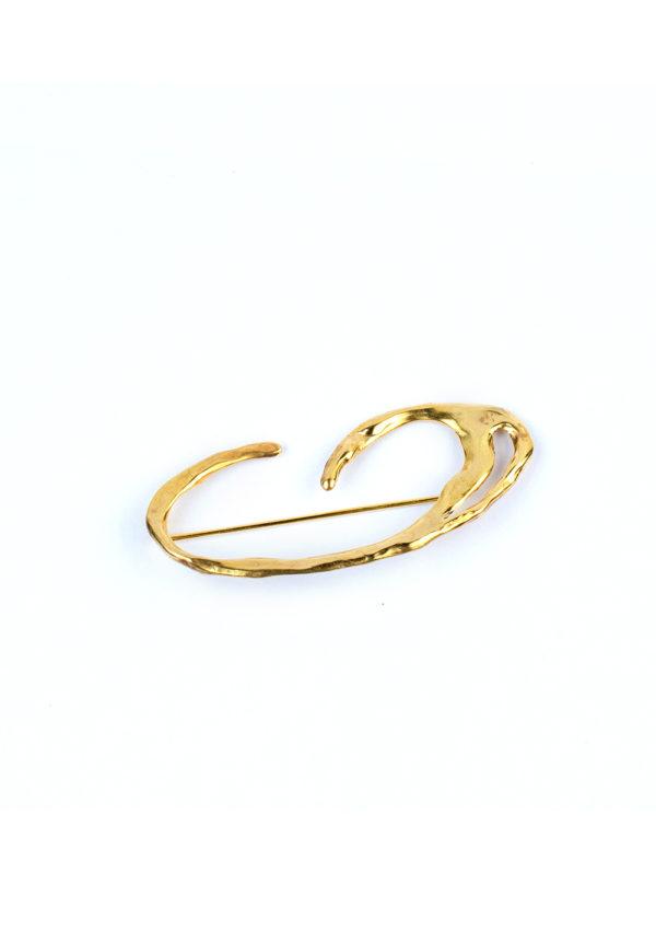 Broche Galatée – Doré à l'or fin 24 carats | Bresma | Label AÉ Paris - Image 13