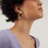 Organic boucles d'oreilles earrings fait main handmade Bresma affaires étrangères Paris
