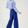 Pantalon en laine et cachemire indigo du créateur Tremblepierre - image 4