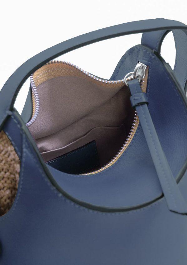 Sac besace I cuir raphia I 10-03-53 I vue en détail 1 I Label AÉ Paris